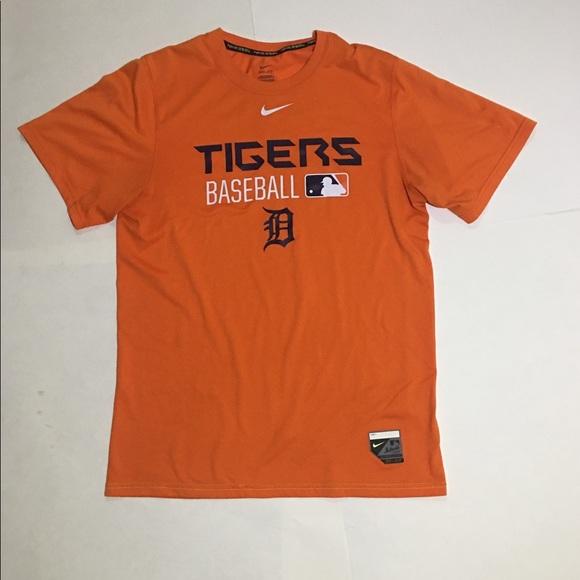 sale retailer 09244 44301 Nike MLB Detroit Tigers Dri Fit Tee Shirt Orange. M 5c6dead3194dadb4020be1d2